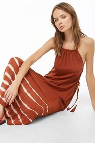 Forever21 Tie-Dye Lace-Up Maxi Dress