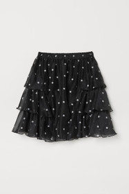 Patterned Tiered Skirt