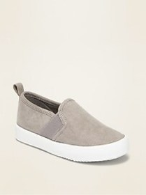 Faux-Suede Slip-Ons for Toddler Boys