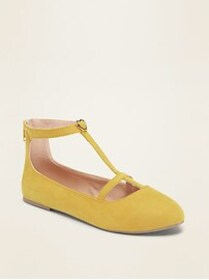 Faux-Suede T-Strap Ballet Flats for Girls