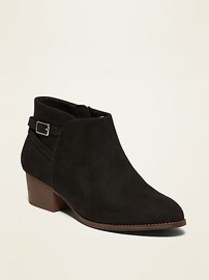 Faux-Suede Ankle Boots for Girls