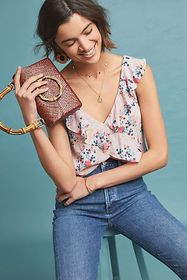 Anthropologie Rae Floral Blouse
