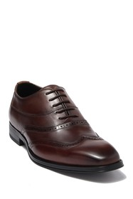 Karl Lagerfeld Paris Wingtip Leather Lace-Up Oxfor