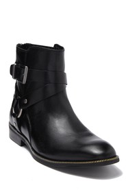 Karl Lagerfeld Paris Harness Leather Boot With Zip