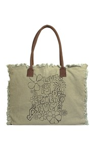Vintage Addiction Love Is Powerful Market Tote