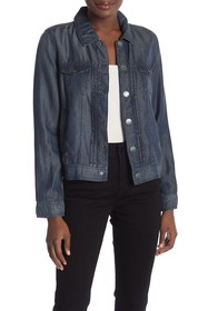 Tahari Tencel Pintuck Jacket