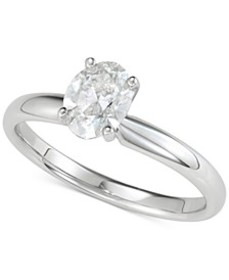 Diamond Oval Solitaire Engagement Ring (1 ct. t.w.