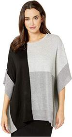 Calvin Klein Color Block Crew Neck Poncho