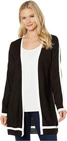 Calvin Klein Open Cardigan with Contrast Piping