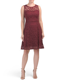 MARISA & MARIE Made In Italy Fit And Flare Lace Co