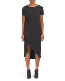 BELLA AMBRA Made In Italy Side Rouch Knit Dress