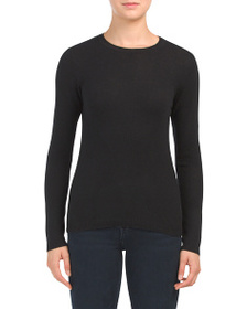 TAHARI Cashmere Crew Neck Sweater
