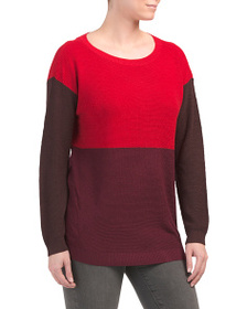 VINCE CAMUTO Color Block Crew Neck Sweater