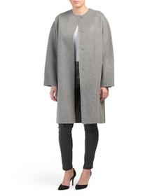reveal designer Wool And Cashmere Rounded Coat