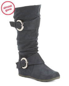 WANTED Slouchy Double Buckle Boots