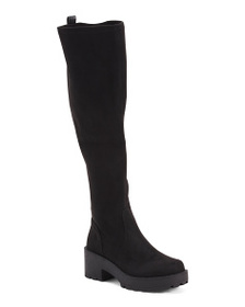 LUST FOR LIFE Knee High Lug Sole Boots
