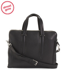 SALVATORE FERRAGAMO Made In Italy Leather Carryall