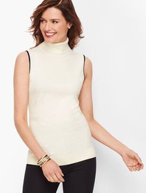 Talbots Tipped Turtleneck Shell