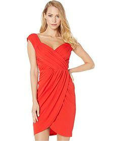 Nicole Miller Stella Matte Jersey Sleeve Dress