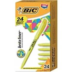 BIC Brite Liner Highlighters, Chisel Tip, Yellow,