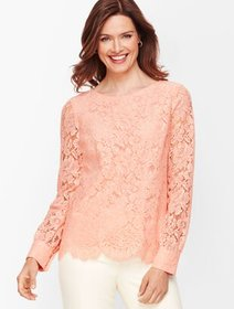 Talbots Lace Poet Sleeve Top