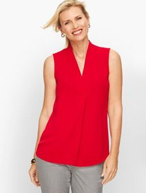 Talbots Faux Wrap Shell - Solid