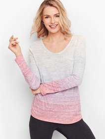 Talbots Side Ruched Tee - Ombre