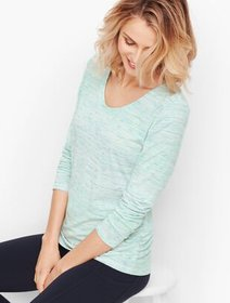 Talbots Side Ruched Tee - Space-Dyed