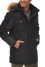 Rainforest Faux Fur Trimmed Hood Insulated Oxford