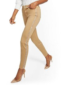 High-Waisted Super-Skinny Jeans - Camel - New York