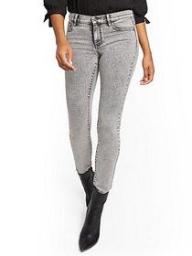 Mid-Rise Super-Skinny Jeans - Acid Grey - New York
