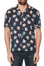 Original Penguin Neon Pete Short Sleeve Button-Up