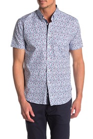 CONSTRUCT Calico Short Sleeve Slim Fit Shirt