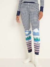 Thermal-Knit Pajama Pants for Women