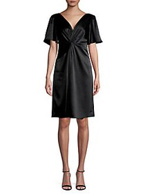 Elie Tahari Twisted-Front Mini Dress BLACK