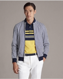 Ralph Lauren Striped Cotton Twill Jacket