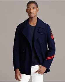 Ralph Lauren Cotton Canvas Peacoat