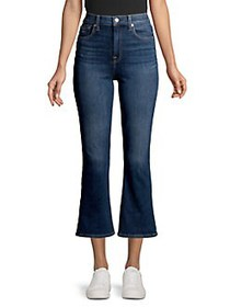 7 For All Mankind High-Rise Cropped Flare Jeans DA