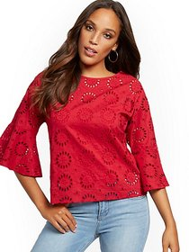 Eyelet Blouse - New York & Company
