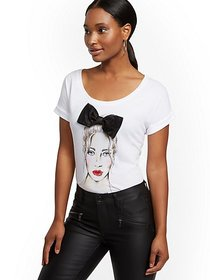 Bow Girl Graphic Tee - New York & Company