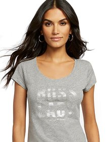 "Grey ""Boss Lady"" Graphic Tee - New York & Company"