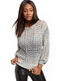 Ombre Open-Stitch Sweater - New York & Company