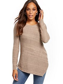 Asymmetrical-Hem Tunic Sweater - New York & Compan