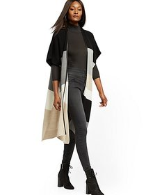 Colorblock Poncho - New York & Company