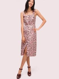panthera jacquard midi dress