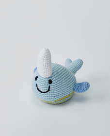 Hanna Andersson Crochet Narwhal Rattle in Narwhals
