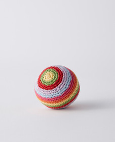 Hanna Andersson Crochet Ball Rattle in Rainbow Mul