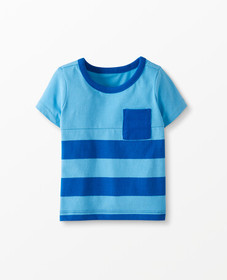 Hanna Andersson Sueded Jersey Colorblock Tee in Ba