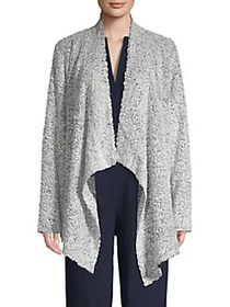 Vince Camuto Open-Front Long-Sleeve Cardigan SILVE