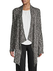 Vince Camuto Draped Open-Front Cardigan RICH BLACK